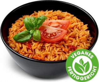 Reis mit getrockneten Tomaten